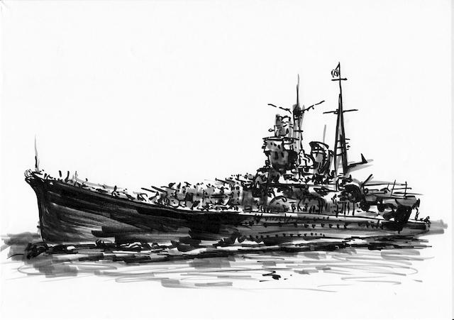 戦艦イラスト